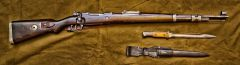 WWII Kar 98k with WWI bayonet
