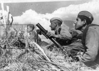 Минометчики ведут огонь по противнику. Ленинградский фронт 1944 год.jpg