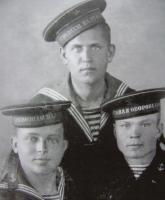 М.И. Халецкий, И.Я.Клусевич, М.И.Таратухин Ханко, 1941г..JPG