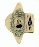 Этикетка от лезвий.Жиллет.Портрет основателя.1930е.jpg