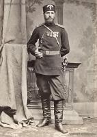 Поручик Стефан Кисов, участник в Руско-Турската и Сръбско-Българските войни, един от спасителите на Самарското знаме, фотографиран ок 1880.jpg