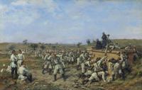 Привал 140-го пехотного Зарайского полка 35-й пехотной дивизии. 1877 год.jpg