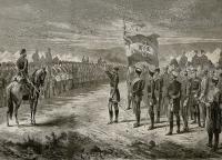 Болгарское ополчение обретает свое знамя - Галац 1877 г..jpg